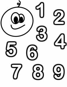 Раскраски цифры для детей